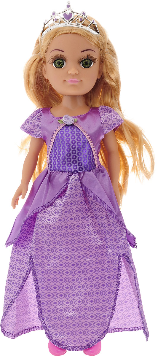 Карапуз Кукла озвученная Принцесса цвет платья фиолетовый куклы карапуз кукла карапуз принцесса ариэль