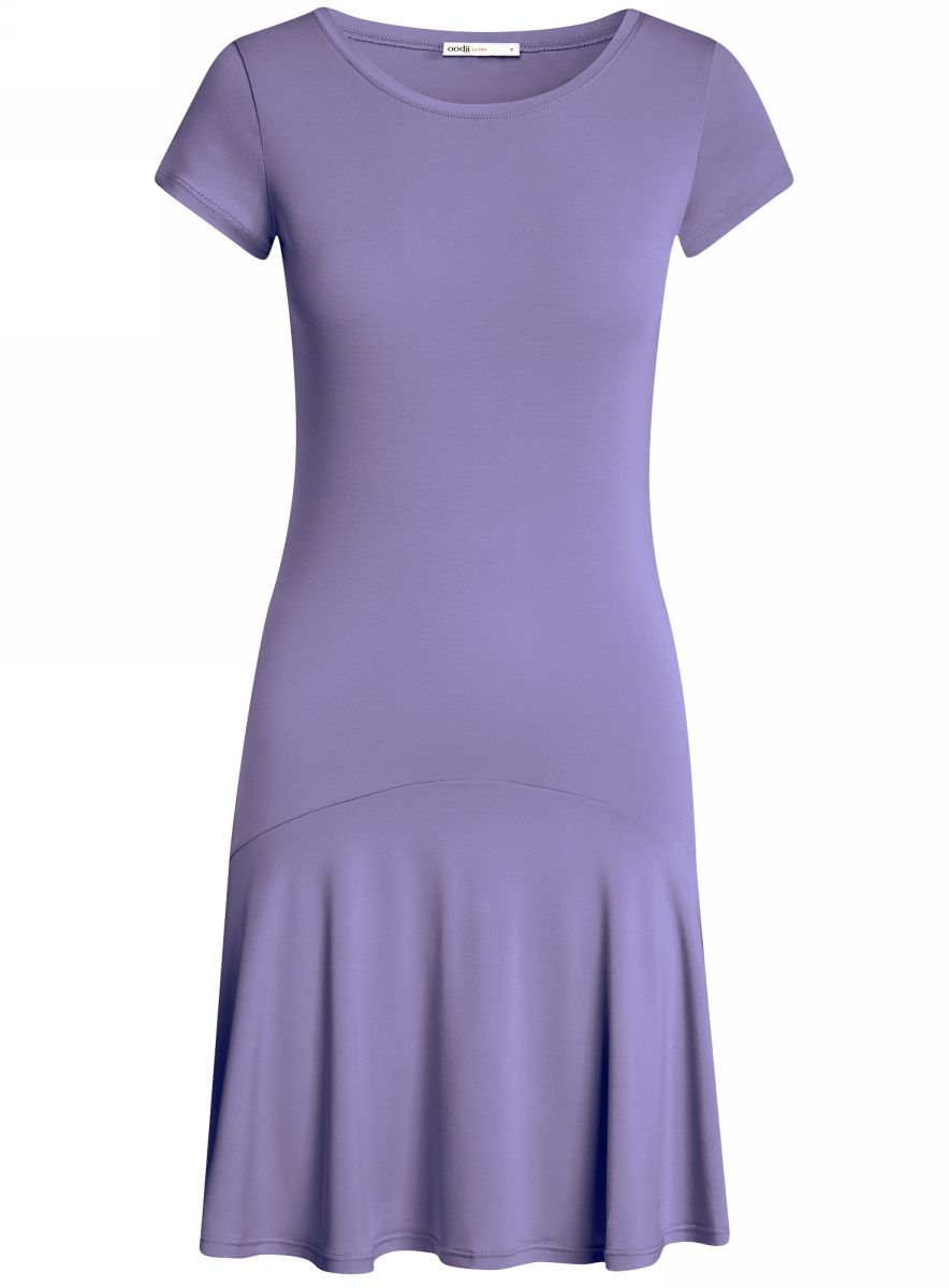 Платье oodji Ultra, цвет: сиреневый. 14011017/46384/8000N. Размер L (48) платье oodji ultra цвет сиреневый 14017001 6b 47420 8000n размер xl 50