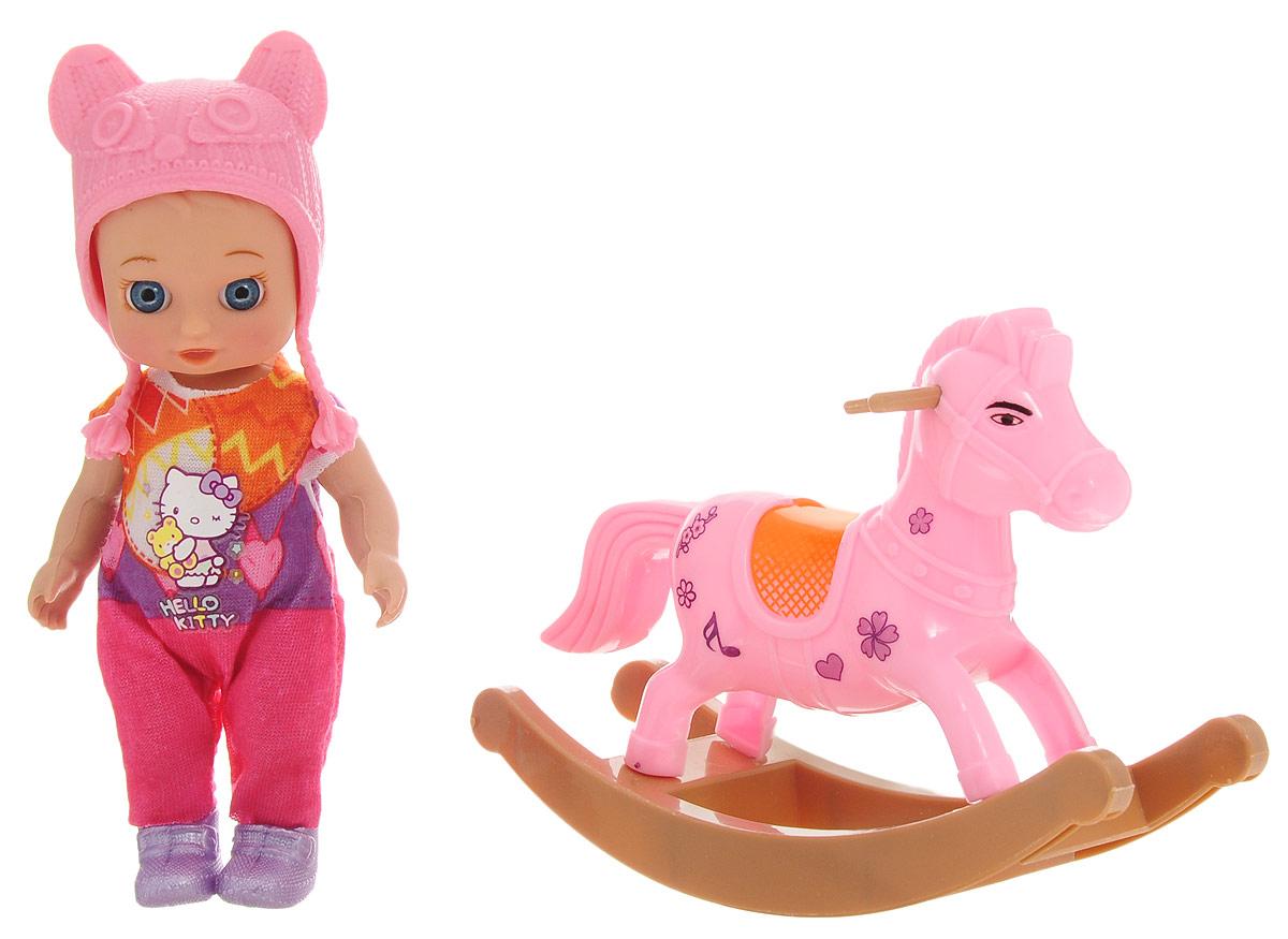 Карапуз Игровой набор с куклой Машенька на лошадке-качалке стеллаж угловой машенька
