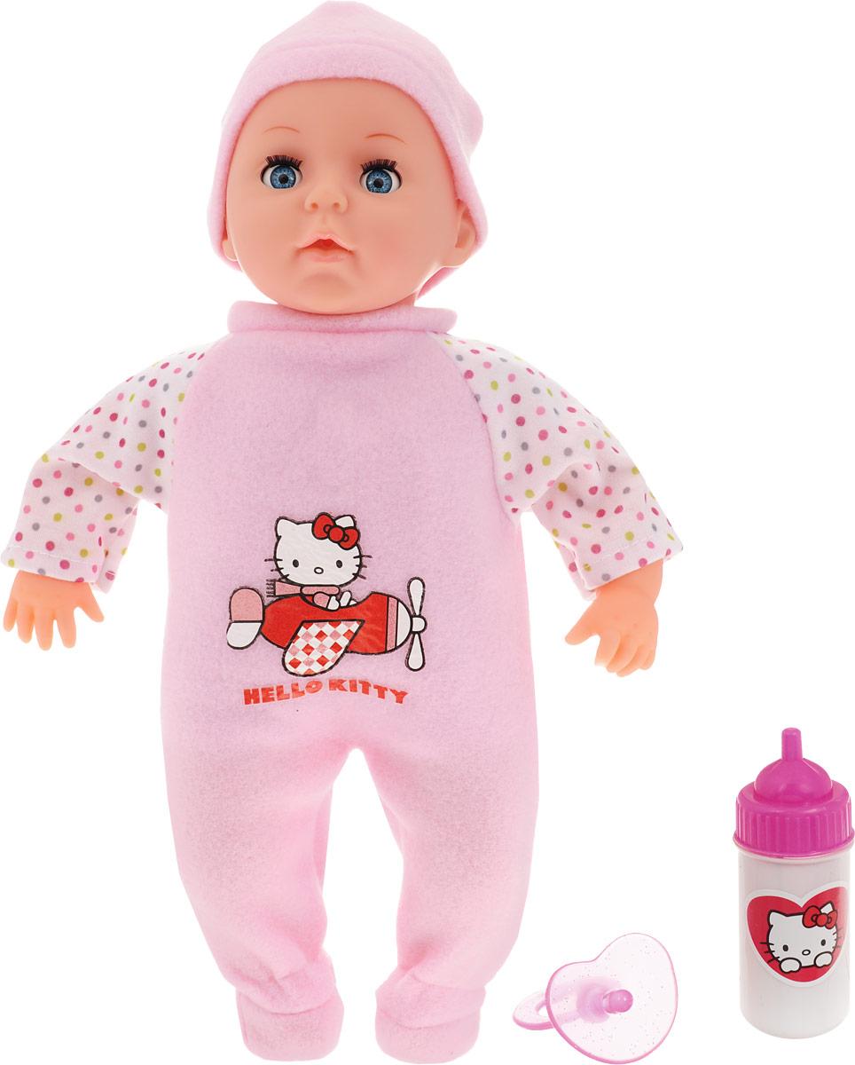 купить Карапуз Пупс озвученный Hello Kitty цвет одежды белый розовый онлайн