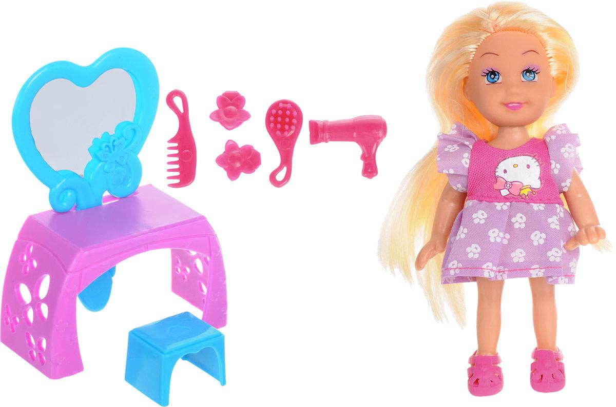 Карапуз Игровой набор с мини-куклой Hello Kitty цвет розовый фиолетовый veld co игровой набор с мини куклой my lovely princess цвет одежды сиреневый розовый голубой
