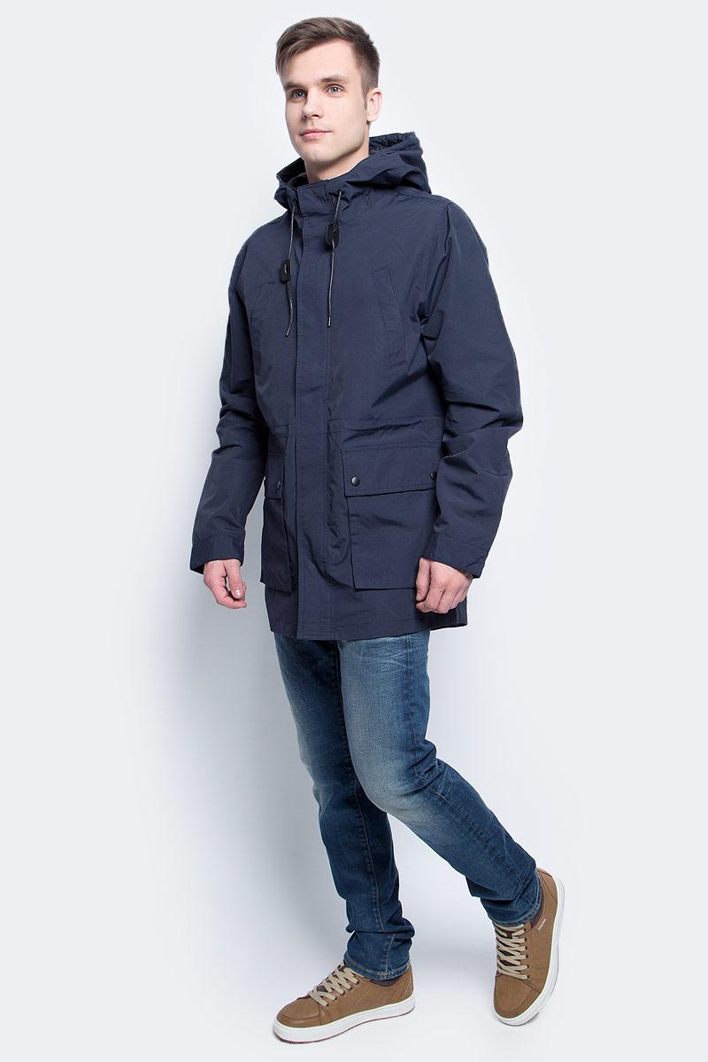 Ветровка мужская Baon, цвет: темно-синий. B607030_Deep Navy. Размер L (50) ветровка мужская baon цвет темно синий b607028 deep navy размер xxl 54