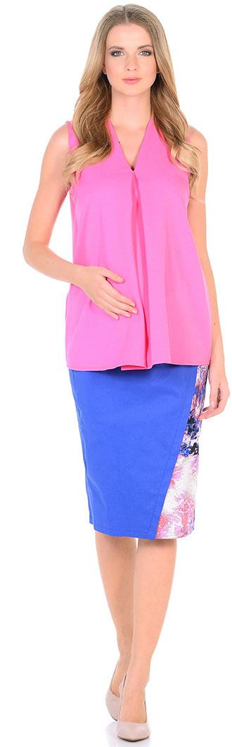 Блузка для беременных Mammy Size, цвет: розовый. 103333. Размер 42103333Элегантная блузкаженственного силуэта. Тонкая ткань мягко струится по фигуре. Блузка прекрасно сочетается как с брюками, так и с юбками.