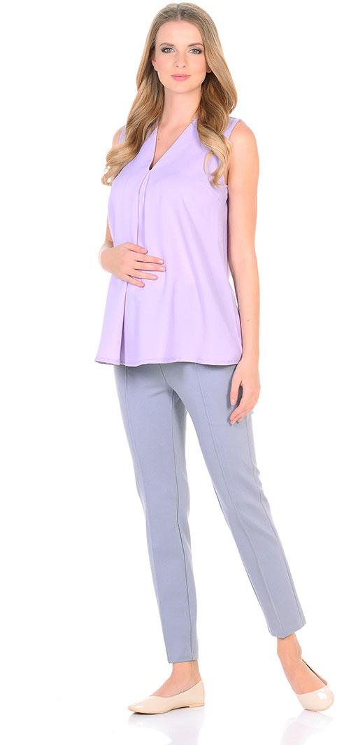 Блузка для беременных Mammy Size, цвет: сиреневый. 103337. Размер 46103337Элегантная блузкаженственного силуэта. Тонкая ткань мягко струится по фигуре. Блузка прекрасно сочетается как с брюками, так и с юбками.