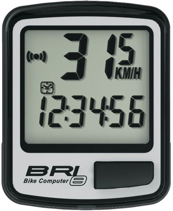 Велокомпьютер Echowell BRI-8, 8 функций, цвет: серыйBRI-8Проводной велокомпьютер Echowell BRI-8 с восемью функциями в стильном корпусе предназначен для использования при занятиях велоспортом, велотуризмом и просто катании на велосипеде. Это удобный и простой в использовании электронный прибор, предоставляющий велосипедисту всю необходимую информацию о поездке. Имеет отличную водо- и пылезащиту.Велокомпьютер состоит из двух частей соединенных проводом - дисплея, внешне похожего на электронные часы и датчика скорости. Дисплей крепится на руле с возможностью мгновенно отсоединить его, когда нет желания оставлять на велосипеде без присмотра или под дождем. Магнитный датчик скорости (геркон) крепится рядом с колесом.Велокомпьютер определяет скорость движения с точностью до десятых долей, дистанцию - с точностью до 10 метров. На дисплее функции поочередно сменяют друг друга. Все операции и настройки выполняются одной кнопкой. Функции: - Скорость текущая.- Скорость средняя.- Скорость максимальная.- Дистанция поездки.- Одометр.- Время поездки.- Часы.- Скан (функция скан задействует режим показа всех функций на дисплее компьютера поочередно).Питание: от литиевой батарейки типа CR2032 (входит в комплект).Гид по велоаксессуарам. Статья OZON Гид