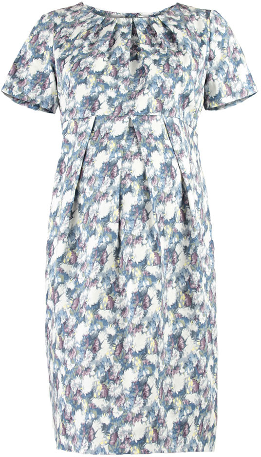 Платье для беременных Mammy Size, цвет: голубой. 5122512171. Размер 505122512171Платье для беременных Mammy Size выполнено из хлопка и эластана. Модель с круглым вырезом горловины и короткими рукавами.