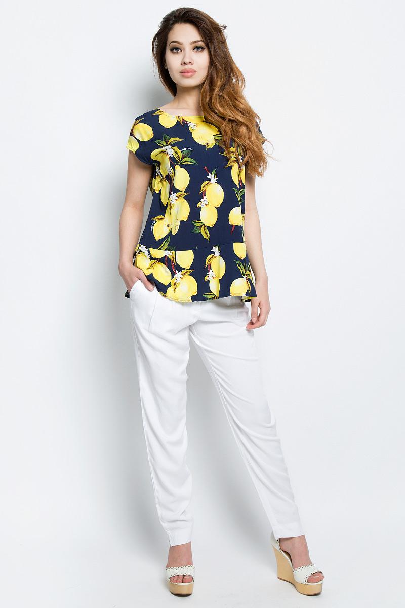 Блузка женская Finn Flare, цвет: темно-синий. S17-14083_101. Размер XL (50) платье finn flare цвет светло бежевый s17 12036 702 размер xl 50