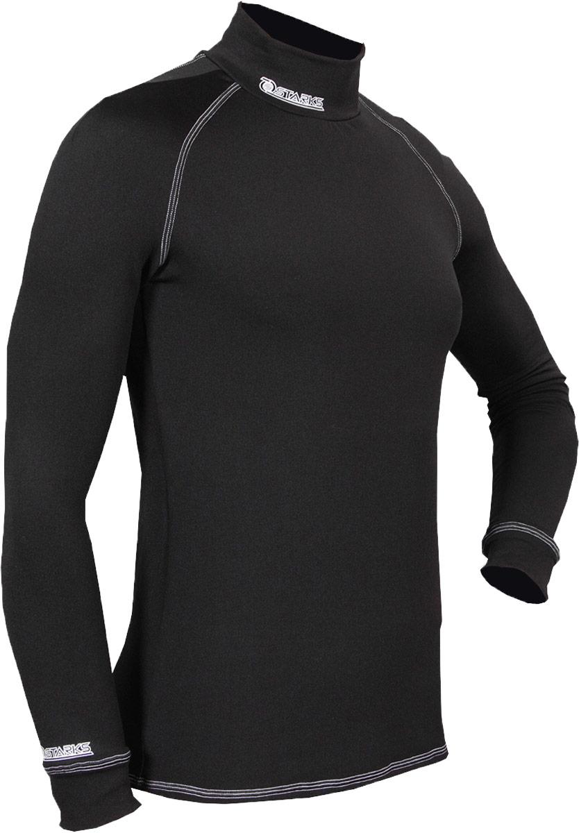Термобелье кофта мужская Starks Warm, зимняя, цвет: черный. ЛЦ0018. Размер XLЛЦ0018_XL_МужАнатомическое термобелье Starks Warm, выполнено из европейской сертифицированной ткани PolarStretch. Высокие эластичные свойства материала позволяют белью максимально повторять индивидуальную анатомию тела, эффект второй кожи. Термокофта имеет отличные влагоотводящие свойства, что позволяет телу оставаться сухим. Высокие термоизоляционные свойства, позволяют исключить переохлаждение или перегрев. Воротник стойка обеспечивает защиту шеи от холода. Белье предназначено для активных физических нагрузок. Повседневное использование, в качестве демисезонного.Особенности:-Stop Bacteria.-Защита от перегрева или переохлаждения.-Эластичные, мягкие плоские швы.-Гипоаллергенно.Состав: 92% полиэстер, 8% эластан.