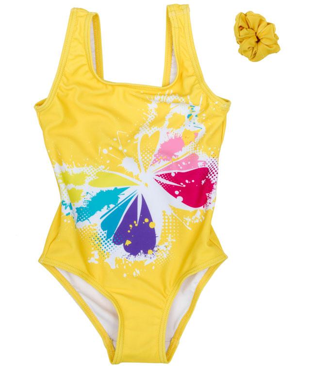 Купальник для девочки PlayToday, цвет: желтый, сиреневый. 179013. Размер 98179013Купальник - это неотъемлемая часть летнего гардероба. Быстросохнущий и эластичный материал этой модели приятен к телу. Ребенку в этом купальнике будет удобно и комфортно.