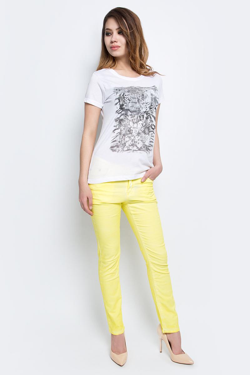 Футболка женская Baon, цвет: белый. B237081_White. Размер XL (50) футболка женская baon цвет белый b237081 white размер xl 50