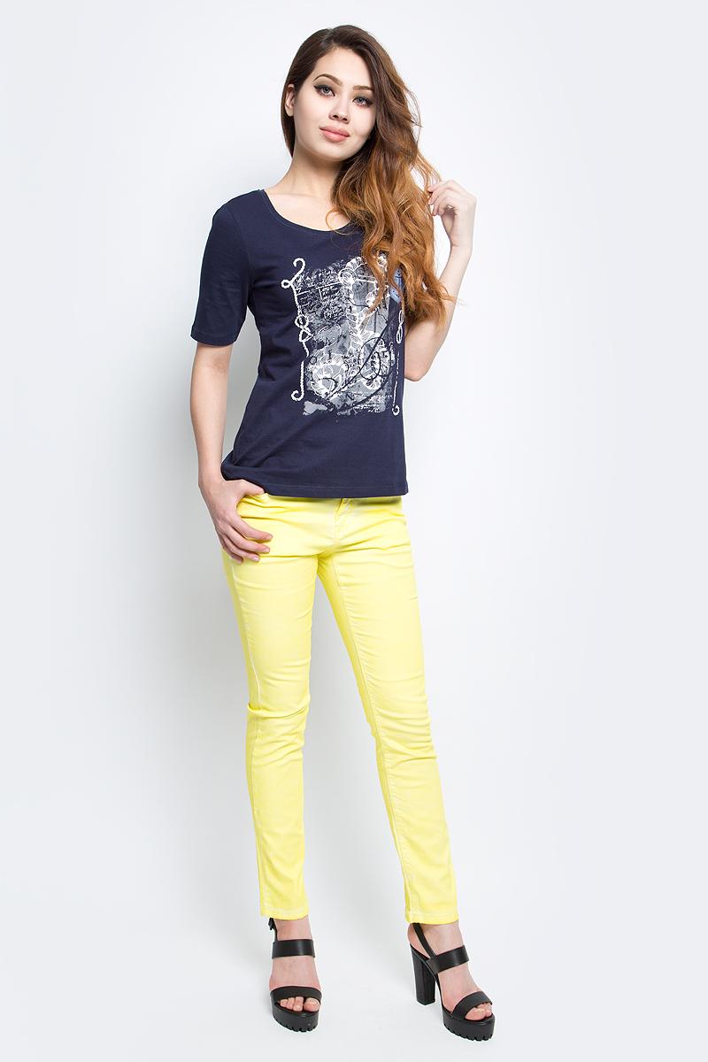 Джинсы женские Baon, цвет: желтый. B307010_Canary. Размер 26 (42)B307010_CanaryДжинсы женские Baon выполнены из хлопка и эластана. Изделие имеет классический пятикарманный крой с застёжкой на пуговицу и молнию, имеются шлевки для ремня.