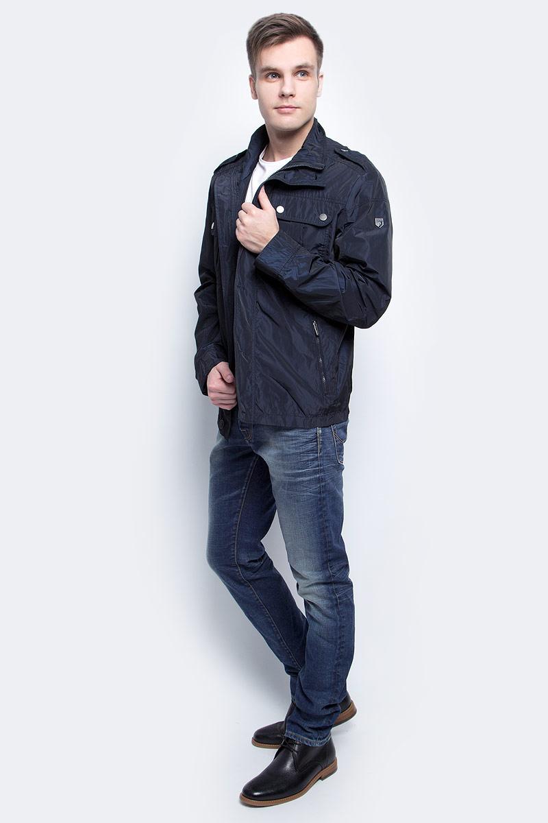 Ветровка мужская Baon, цвет: темно-синий. B607019_Deep Navy. Размер XXL (54) ветровка мужская baon цвет темно синий b607028 deep navy размер xxl 54