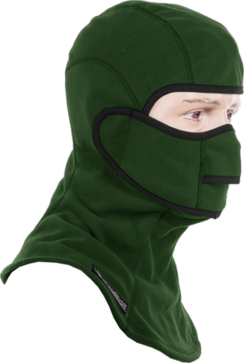 Подшлемник Starks Fleece Collar Open, с защитой шеи, цвет: зеленый. Размер L/XLЛЦ0032_Зеленый_LПодшлемник Starks Fleece Collar Open предназначен для использования в условиях экстремального холода. Съемная лицевая часть позволяет легко открывать лицо. Подшлемник выполнен из высококачественного полиэстера. Изделие обеспечивает полную защиту лица и шеи от проницания влаги, холода, пыли. Снаружи и внутри флисовый ворс, который обеспечивает терморегуляцию, сохранение тепла, отведение влаги от лица к мембране и последующее выведение наружу. Защитная дышащая мембрана работает в обе стороны - изнутри сохраняет тепло, выводит влагу.