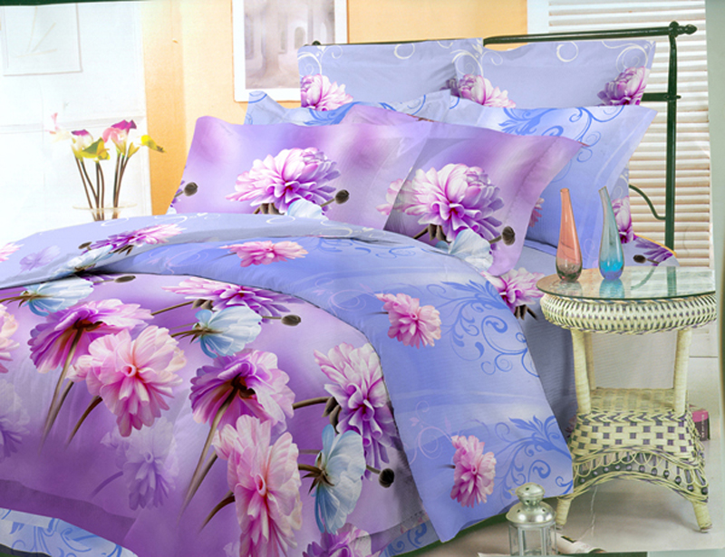 Комплект белья ЭГО Астры, 2-спальный, наволочки 70x70
