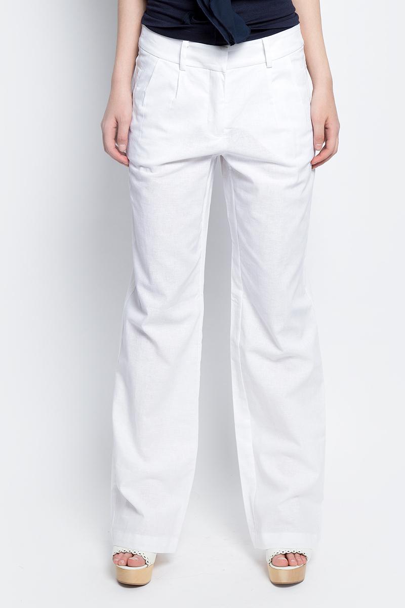 Брюки женские Baon, цвет: белый. B297032_White. Размер L (48) брюки женские baon цвет голубой b298028