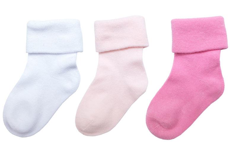 Носки для девочки PlayToday, цвет: белый, розовый, 3 пары. 178820. Размер 11 носки для девочки playtoday цвет розовый 2 пары 172041 размер 14