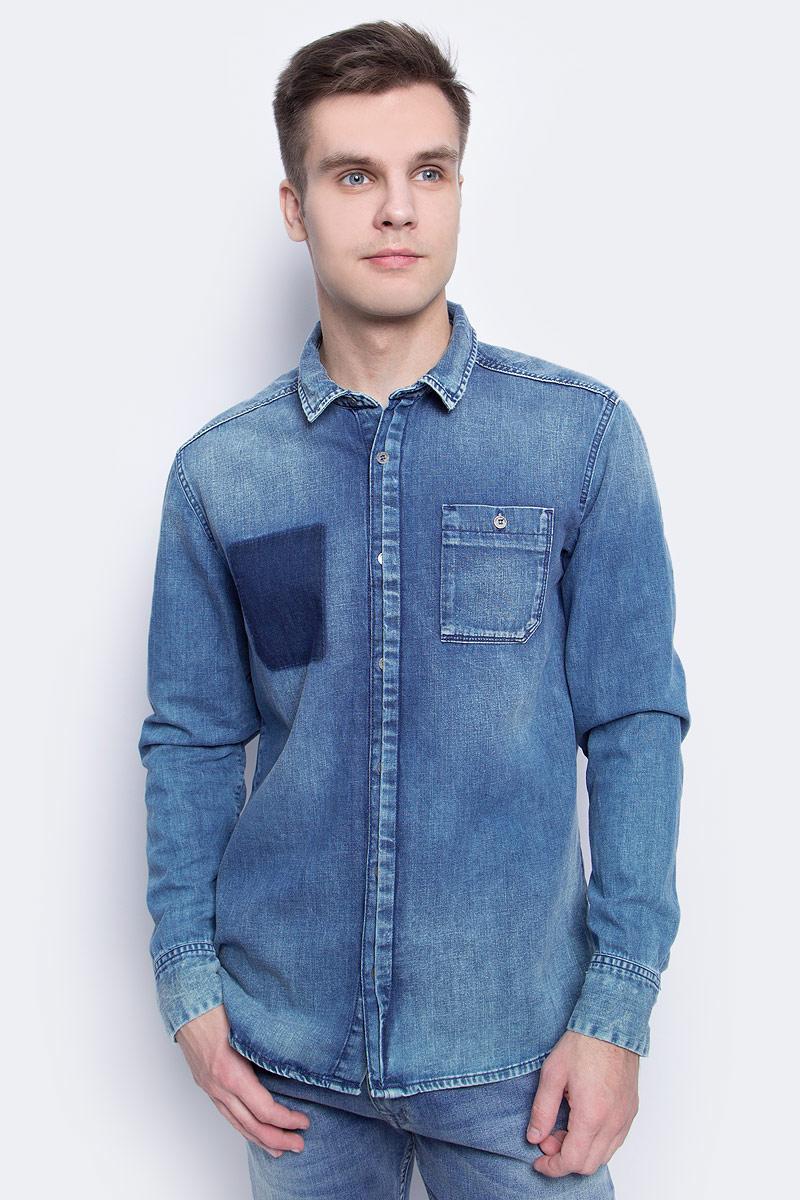 Купить Рубашка мужская Calvin Klein Jeans, цвет: синий. J30J304305. Размер M (46/48)