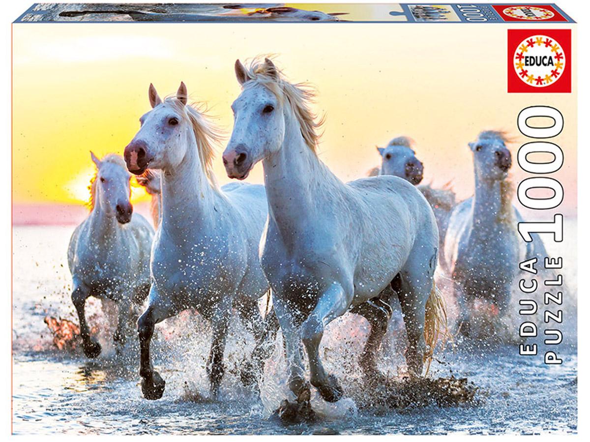 Educa Пазл Белые лошади на закате