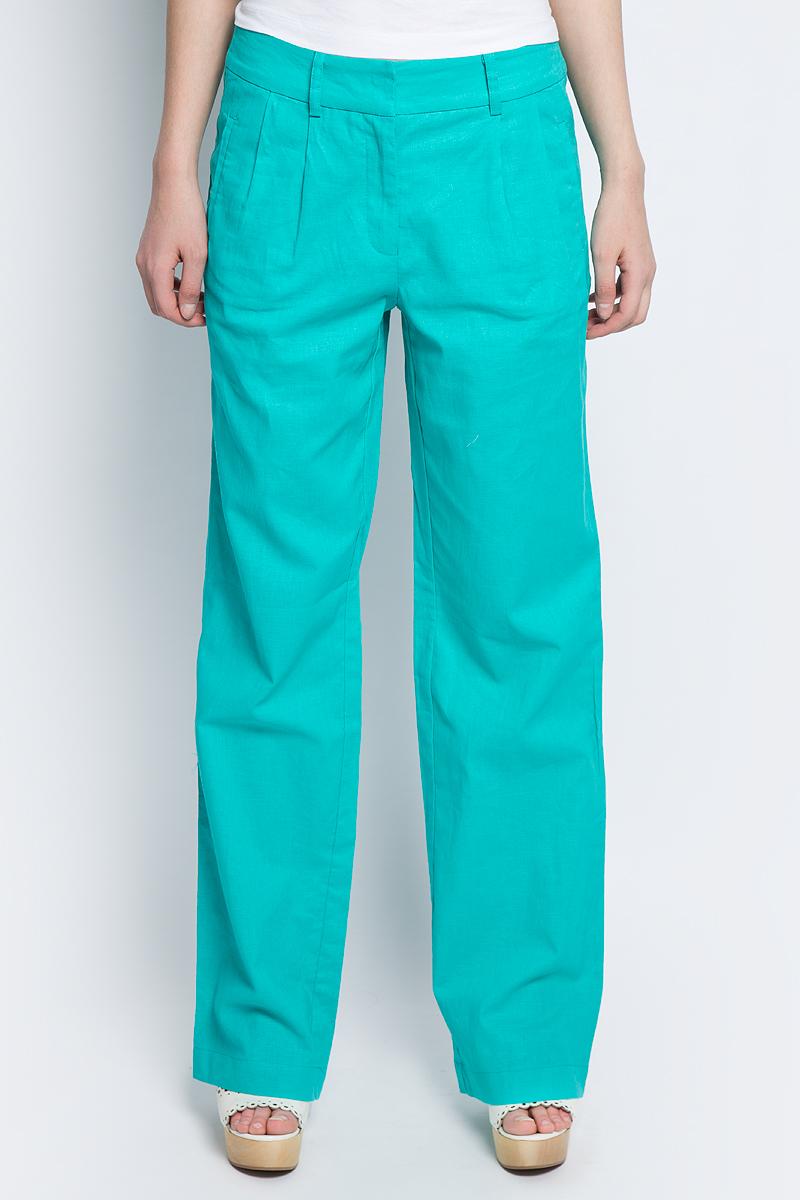 Брюки женские Baon, цвет: голубой. B297032_Turquoise. Размер L (48) брюки женские baon цвет голубой b298028