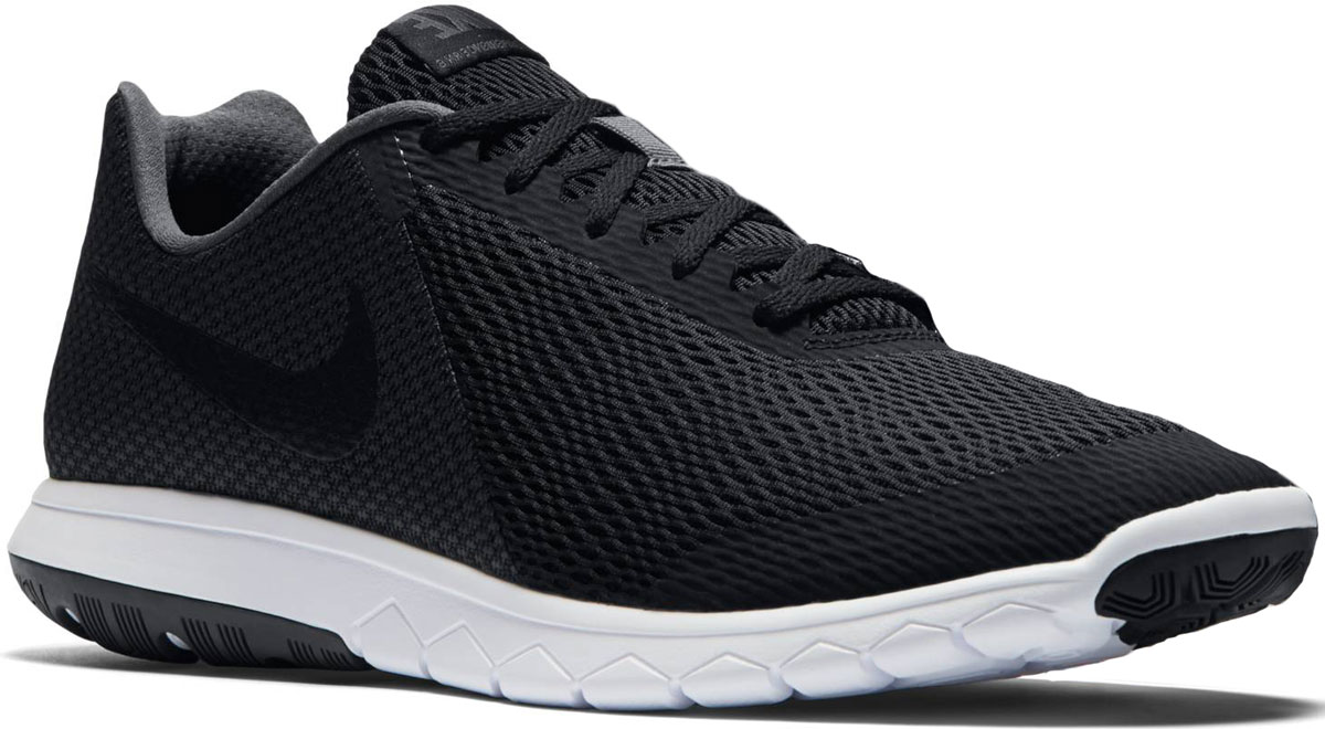 Кроссовки для бега мужские Nike Flex Experience Rn 6, цвет: черный. 881802-001. Размер 10 (43,5)881802-001Модные мужские кроссовки для бега Flex Experience Rn 6 от Nike выполнены из текстиля и дополнены бесшовными накладками. Подкладка и стелька из текстиля обеспечивают комфорт. Шнуровка надежно зафиксирует модель на ноге. Подошва дополнена рифлением.