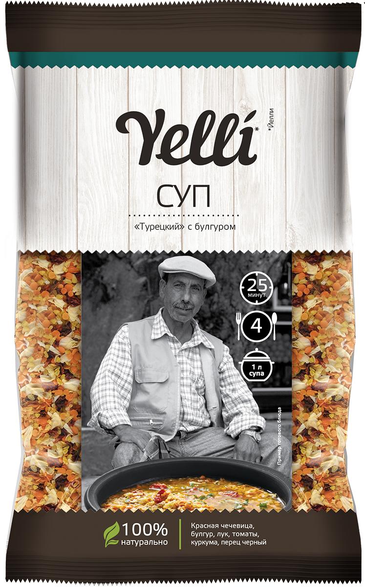Yelli суп Турецкий с булгуром, 120 г готово суп гороховый 250 г