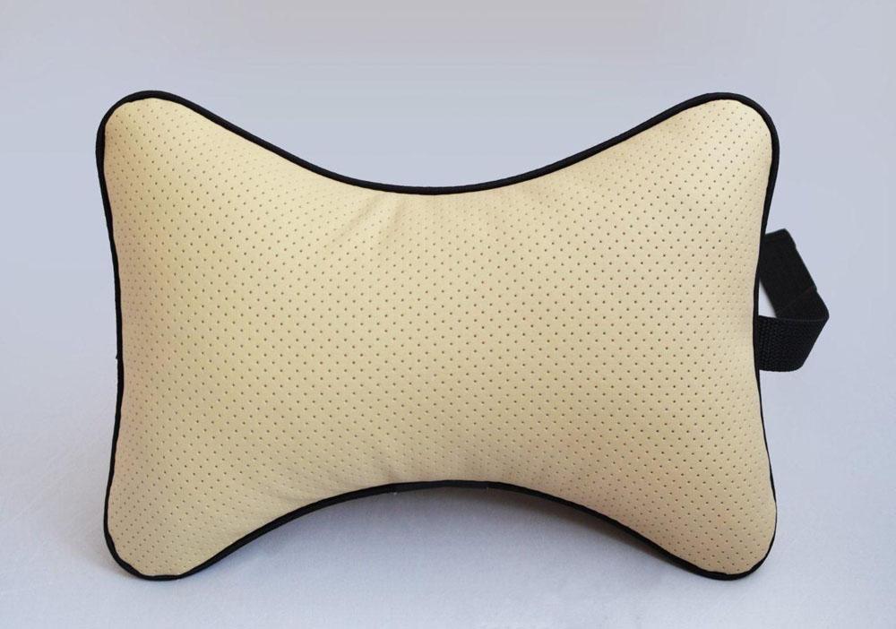 Подушка на подголовник Auto Premium, цвет: бежевый. 37303 подушка на подголовник auto premium цвет серый 37411
