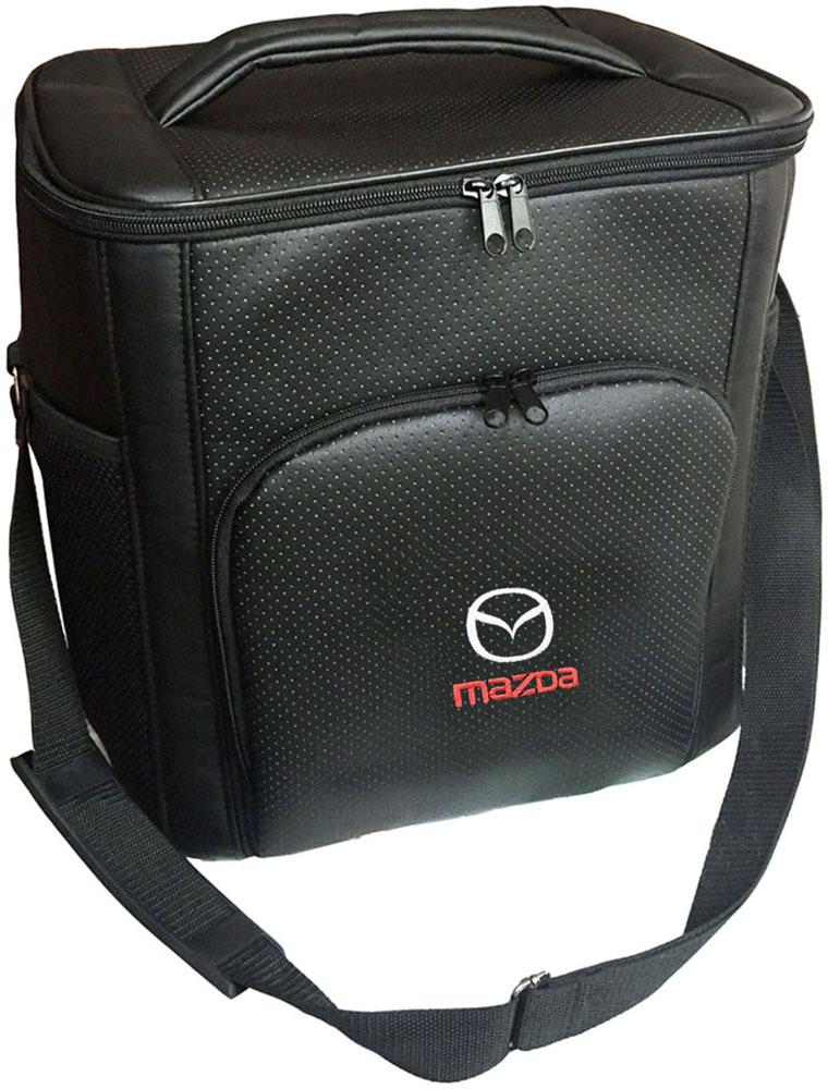 Термосумка Auto Premium Mazda, 20 л72104Термосумка Auto Premium Mazda выполнена из экокожи с нашивкой и оснащена регулируемым плечевым ремнем. Основное отделение и передний карман закрываются на молнию. Для дополнительного удобства термосумка имеет два боковых сетчатых кармана. Ваши продукты сохранятся свежими, а напитки холодными даже в жару благодаря специальному внутреннему термоизоляцоному материалу АЛЮФОМ (РФ). Для более длительного поддержания температурного режима рекомендуется использовать с аккумуляторами холода. Объем термосумки: 20 л.