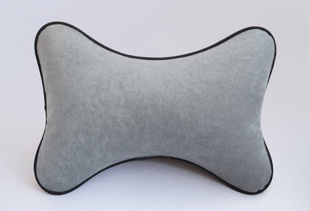 Подушка на подголовник Auto Premium, цвет: серый. 37411 подушка на подголовник auto premium цвет серый 37411