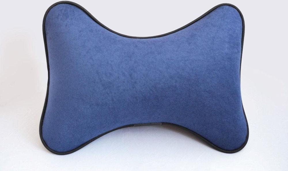Подушка на подголовник Auto Premium, цвет: синий. 3741237412Подушка на подголовник Auto Premium - это прежде всего это лучший способ создать комфорт для шеи и головы во время пребывания в автомобильном кресле. Выполнена из велюра. Большинство штатных подголовников устроены так, что до них попросту не дотянуться. Данный аксессуар полностью решает эту проблему, создавая мягкую ортопедическою поддержку. Подушка крепится к сиденью.Меньше утомляемость - а следовательно выше внимание и концентрация на дороге. Одинакова удобна для пассажира и водителя.
