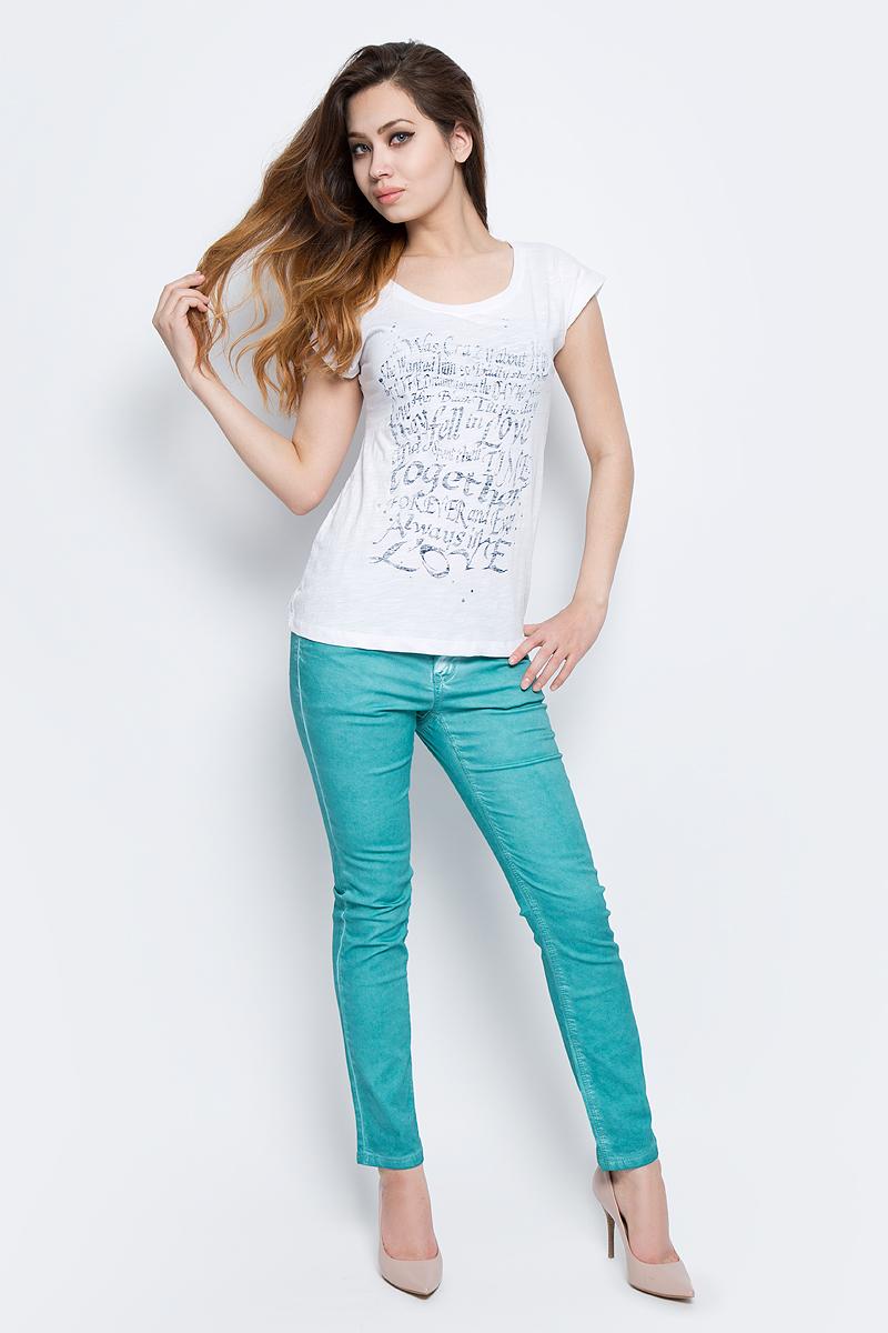 Футболка женская Baon, цвет: белый. B237085_White. Размер XL (50) футболка женская baon цвет белый b237081 white размер xl 50