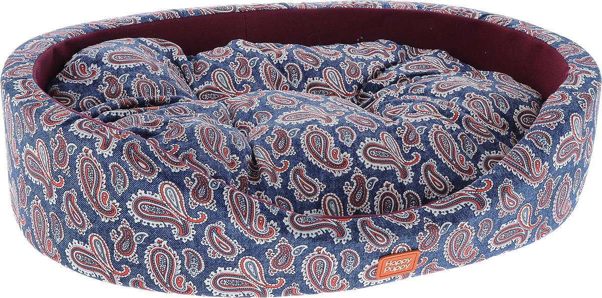 Лежак для животных Happy Puppy Русские сказки 3, цвет: синий, сливовый, 57 x 44 x 15 смHP-150060-3_синий, сливовыйУютный лежак для животных Happy Puppy Русские сказки 3 обязательно понравится вашему питомцу. В нем он будет счастлив, так как лежак очень мягкий и приятный. Животное будет проводить все свое свободное время в нем, отдыхать, наслаждаясь удобством. Лежак выполнен из мягкой качественной ткани и поролона, также имеется подстилка с наполнителем их холлофайбера, которая легко вынимается и ее можно использовать отдельно.