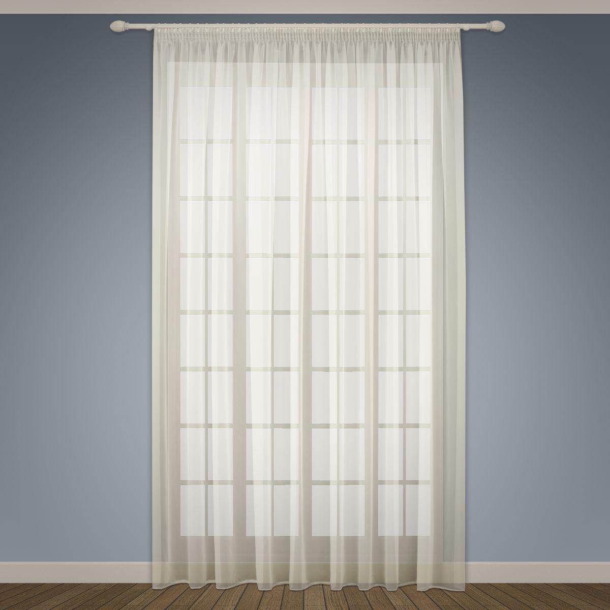 Тюль Sanpa Home Collection Аманда, на ленте, цвет: бежевый, высота 280 см тюль фиалка 1 п м 280 см вуаль