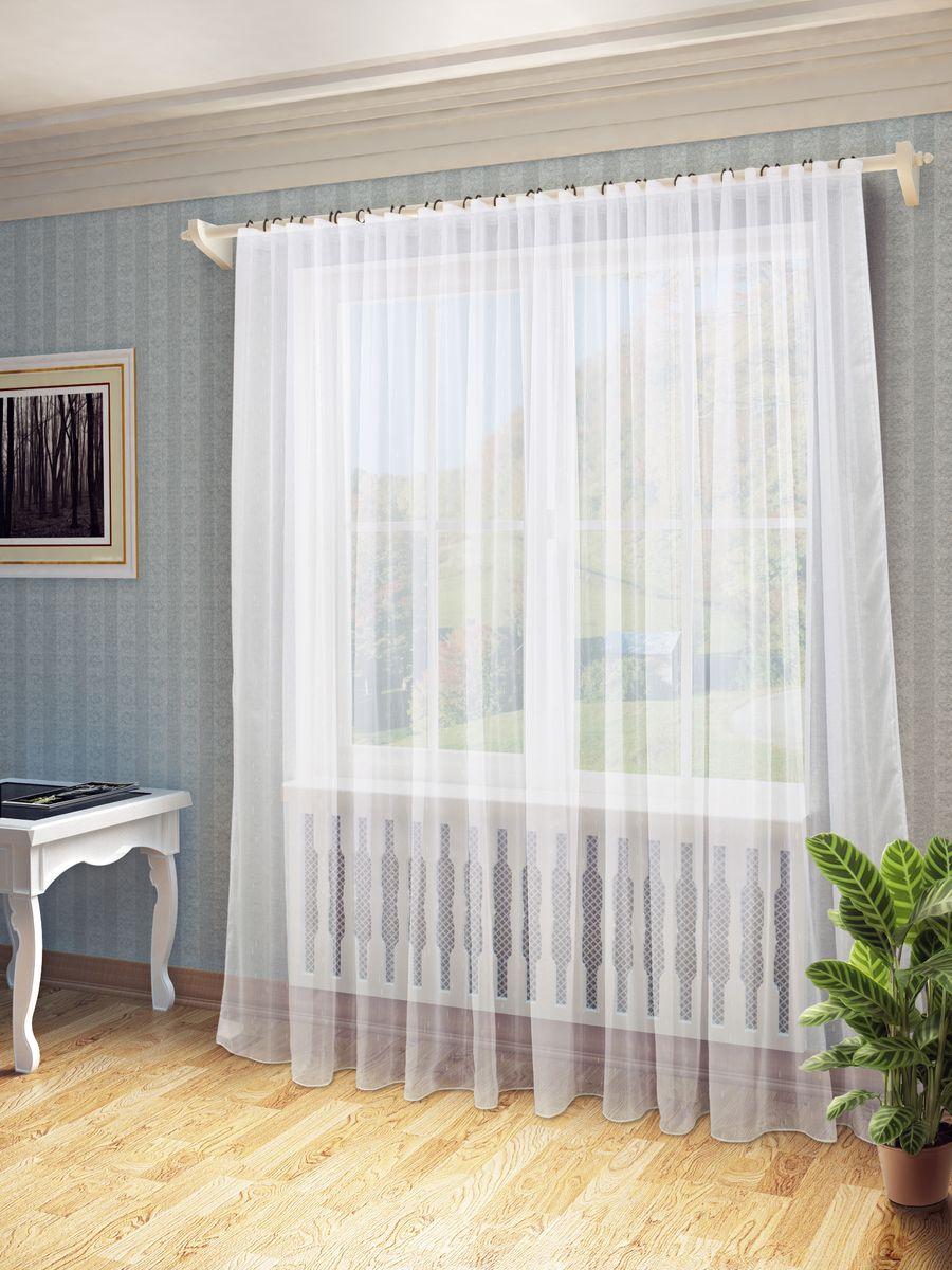"""Тюль """"Долорес"""" нежного цвета в классическом однотонном исполнении изготовлена из ткани """"вуаль"""". Воздушная ткань привлечет к себе внимание и идеально оформит интерьер любого помещения. Ткань вуаль - это гладкая, тонкая, полупрозрачная ткань, изготавливаемая из хлопка, шерсти, шёлка или полиэстера путём полотняного переплетения нитей. Крепление к карнизу осуществляется при помощи вшитой шторной ленты."""