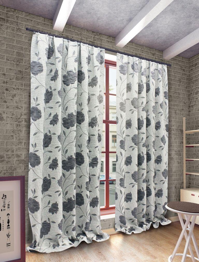 Штора Sanpa Home Collection Ранди, на ленте, цвет: серый, высота 280 смHP192155/8/1Е Ранди серый, , 200*280 смШтора Ранди с оригинальным узором изготовлена из ткани жаккард. Жаккард - одна из дорогостоящих тканей, так как её производство трудозатратно. Своеобразный рельефный рисунок, который получается в результате сложного переплетения на плотной ткани, напоминает гобелен. Крепление к карнизу осуществляется при помощи вшитой шторной ленты.
