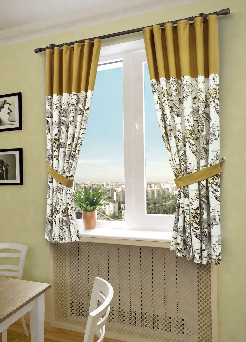 Комплект штор Sanpa Home Collection Гиацинт, на ленте, цвет: коричневый, белый, высота 180 смКШГИАЦИНТ(3)коричн, , 145*180 +подхватыКомплект штор Гиацинт, выполненный из хлопка, великолепно украсит любое окно. Комплект состоит из двух штор и двух подхватов. Оригинальный рисунок и приятная цветовая гамма привлекут к себе внимание и органично впишутся в интерьер помещения. Этот комплект будет долгое время радовать вас и вашу семью!В комплект входит: Штора: 2 шт. Размер (Ш х В): 145 см х 180 см.Подхват: 2 шт.