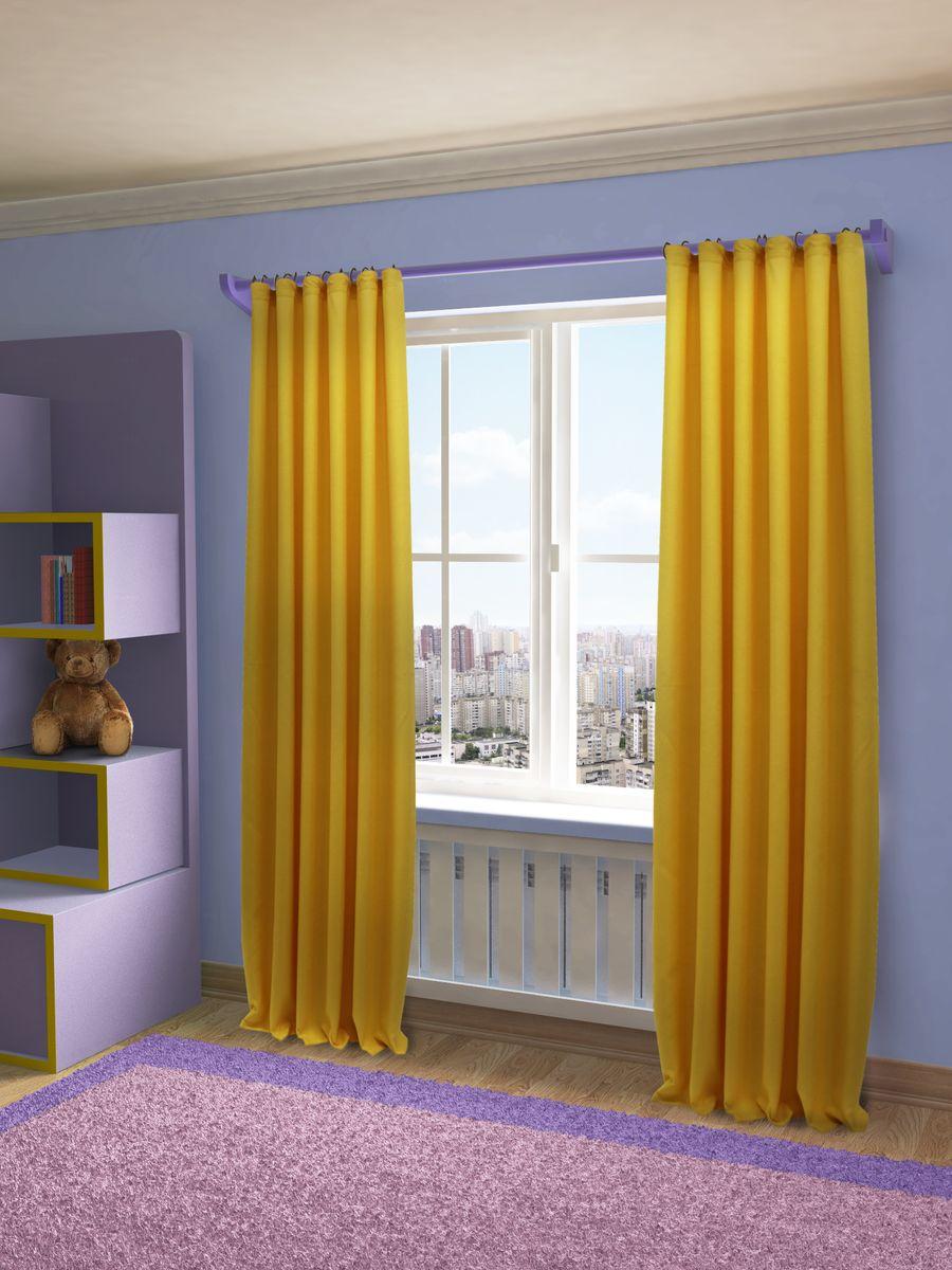 Штора Sanpa Home Collection Джоди, на ленте, цвет: желтый, высота 280 см тюль sanpa home collection готовый тюль