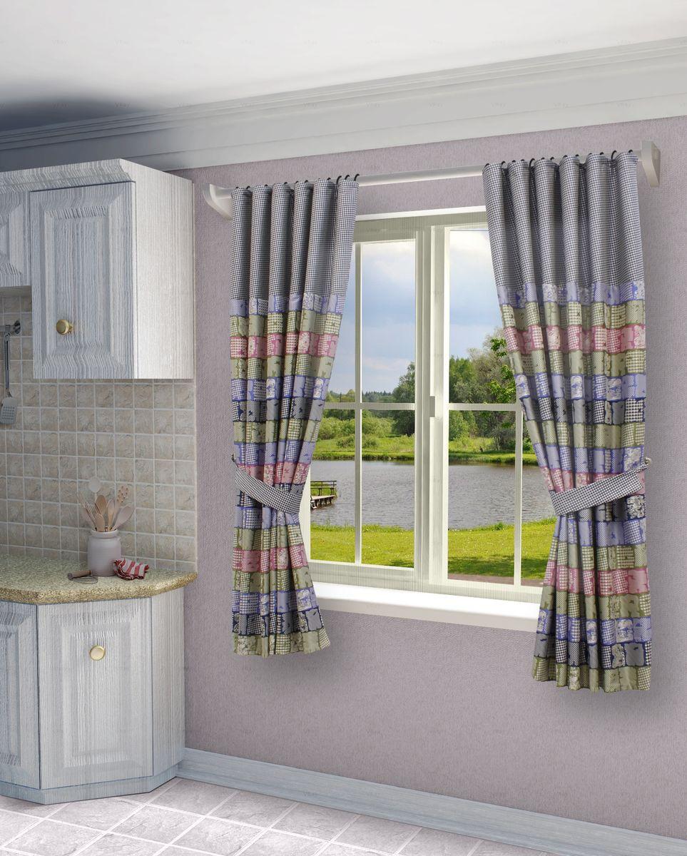 Комплект штор Sanpa Home Collection Джемма, на ленте, цвет: розовый, синий, высота 180 смКШДЖЕММА(1) розово-синий, , 145*180 +подхватыКомплект штор Джемма, выполненный из жаккарда, великолепно украсит любое окно. Комплект состоит из двух штор и двух подхватов. Оригинальный рисунок и приятная цветовая гамма привлекут к себе внимание и органично впишутся в интерьер помещения. Этот комплект будет долгое время радовать вас и вашу семью!В комплект входит: Штора: 2 шт. Размер (Ш х В): 145 см х 180 см.Подхват: 2 шт.