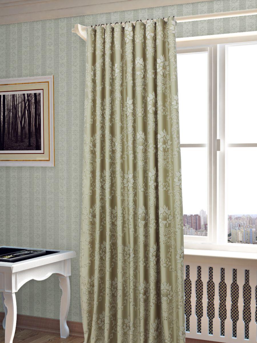 Штора Sanpa Home Collection Элина, на ленте, цвет: бежевый, высота 260 смHP02453/102/1Е Элина беж, , 200*260-1шт+подхватШтора Элина с оригинальным узором изготовлена из ткани жаккард.Жаккард - одна из дорогостоящих тканей, так как её производство трудозатратно. Своеобразный рельефный рисунок, который получается в результате сложного переплетения на плотной ткани, напоминает гобелен.Крепление к карнизу осуществляется при помощи вшитой шторной ленты.