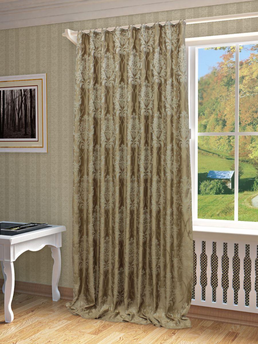 Штора Sanpa Home Collection Джоли, на ленте, цвет: бежевый, высота 280 смHP01304/201/1E Джоли бежевый, , 200*280 смШтора Джоли с оригинальным узором изготовлена из ткани жаккард.Жаккард - одна из дорогостоящих тканей, так как её производство трудозатратно. Своеобразный рельефный рисунок, который получается в результате сложного переплетения на плотной ткани, напоминает гобелен.Крепление к карнизу осуществляется при помощи вшитой шторной ленты.