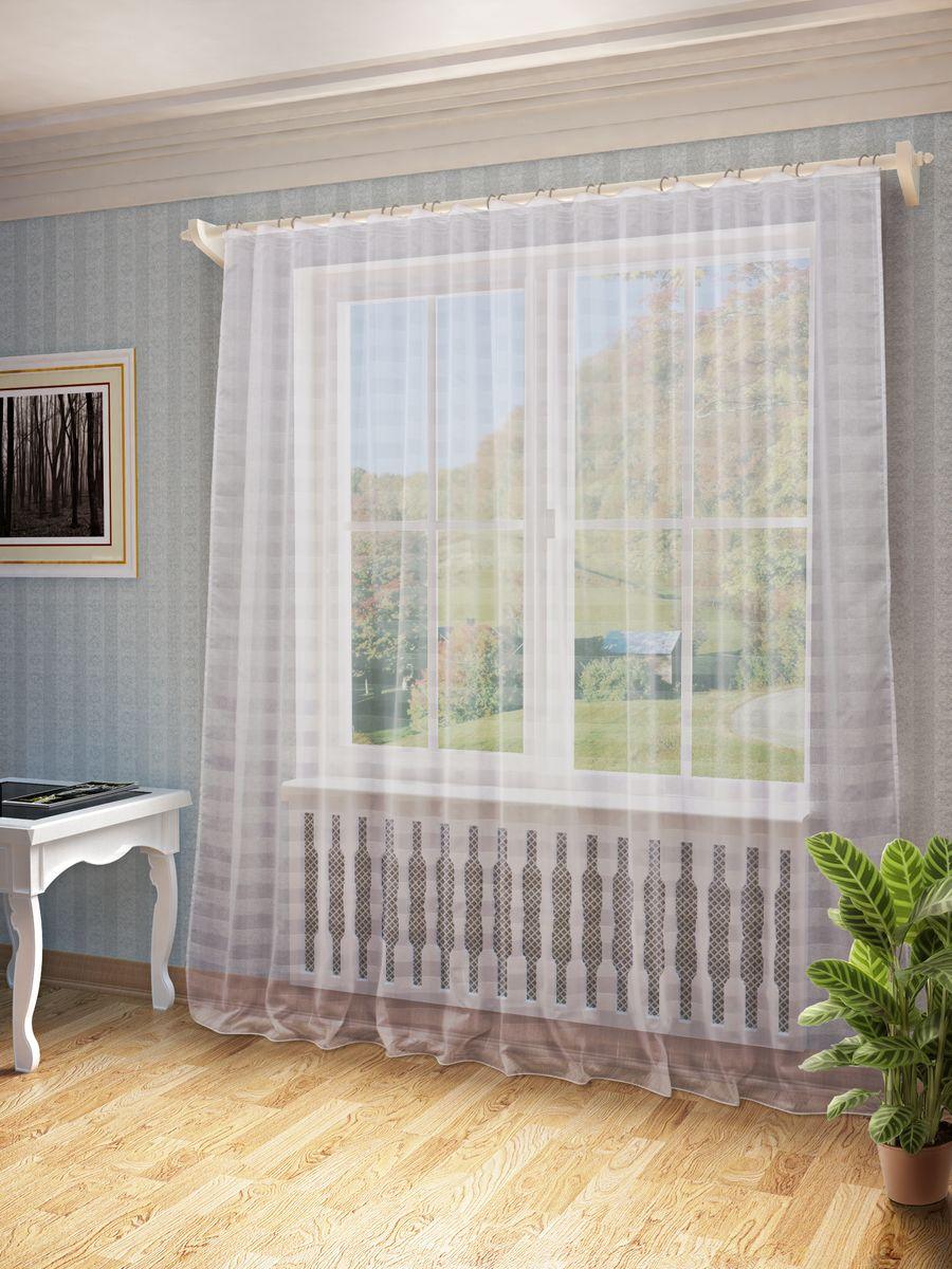Тюль Sanpa Home Collection Тиана, на ленте, цвет: белый, высота 260 см тюль sanpa home collection готовый тюль