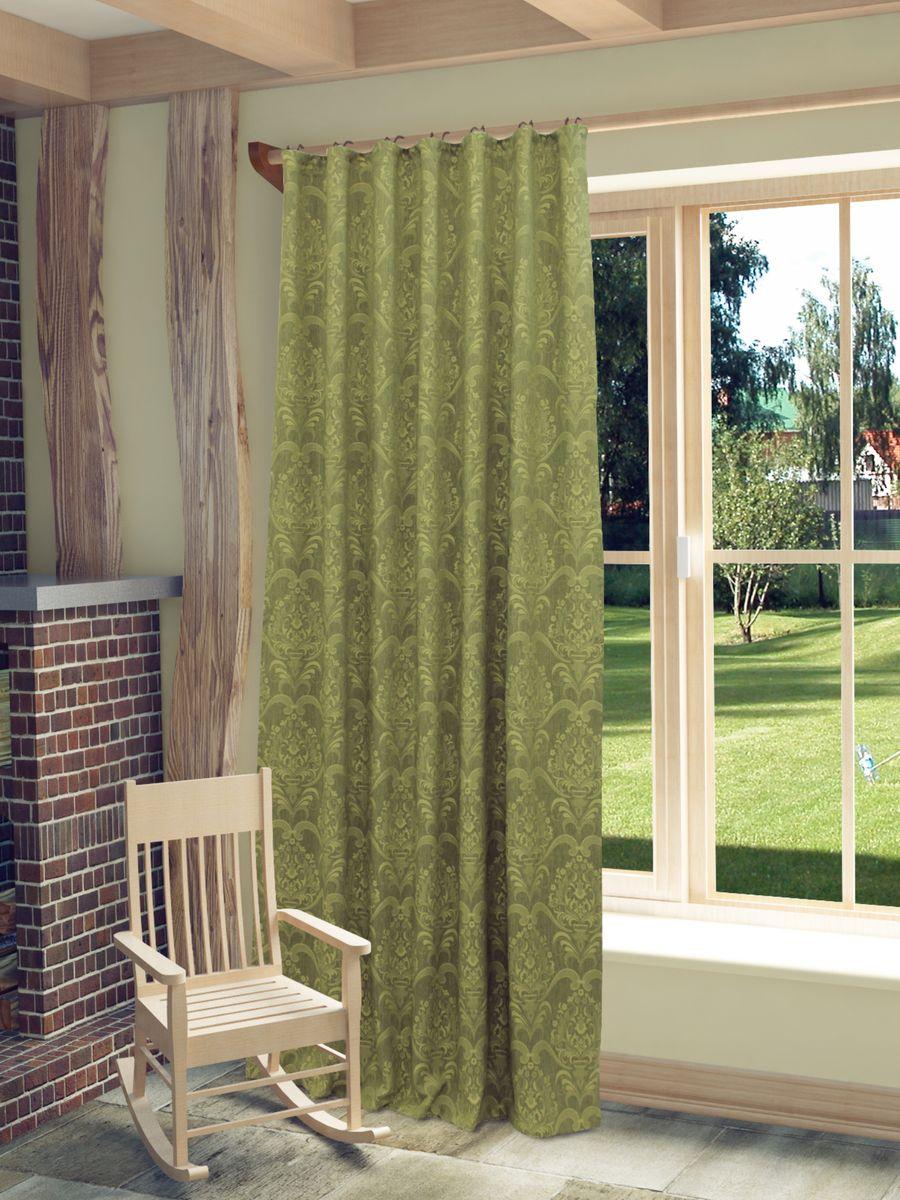 Штора Sanpa Home Collection Камея, на ленте, цвет: зеленый, высота 260 смHP11017/16/1E Камея зеленый, , 150*260 смШтора Камея с оригинальным узором изготовлена из ткани жаккард.Жаккард - одна из дорогостоящих тканей, так как её производство трудозатратно. Своеобразный рельефный рисунок, который получается в результате сложного переплетения на плотной ткани, напоминает гобелен.Крепление к карнизу осуществляется при помощи вшитой шторной ленты.
