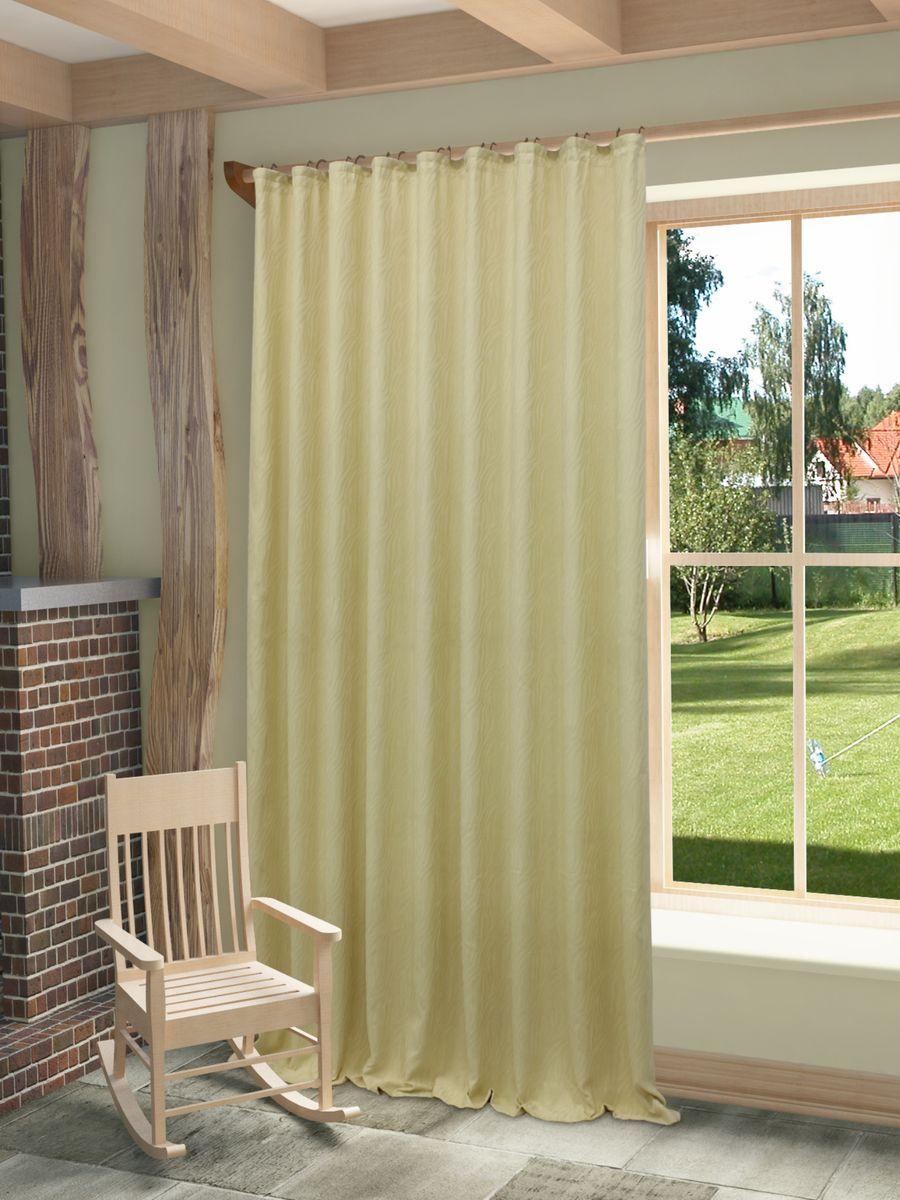 """Штора """"Этна"""" с оригинальным узором изготовлена из высококачественных материалов.  Шторы - это немаловажный, но всё же аксессуар в вашем доме, поэтому их стиль нужно подбирать, исходя из дизайна в вашей квартире. Например, тяжелые и выполненные из дорогих тканей шторы прекрасно впишутся в классическую гостиную. А вот для современных стилей могут быть использованы шторы с более простым оформлением. Крепление к карнизу осуществляется при помощи вшитой шторной ленты."""