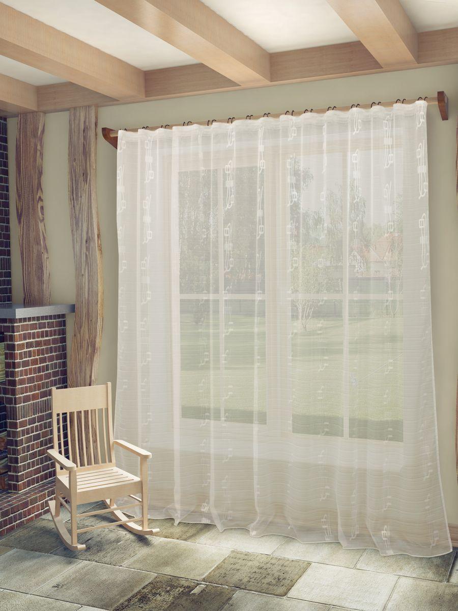 Тюль Sanpa Home Collection Регина, на ленте, цвет: белый, высота 260 см тюль sanpa home collection готовый тюль