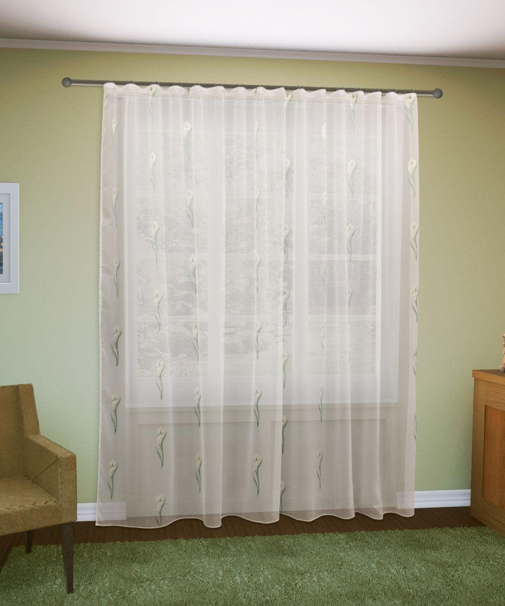 Тюль Sanpa Home Collection Антея, на ленте, цвет: белый, зеленый, высота 260 смHP70267/2/1E Антея зеленый, , 300*260 смТюль Антея нежного цвета с оригинальным рисунком. Воздушная ткань привлечет к себе внимание и идеально оформит интерьер любого помещения.Ткань вуаль - это гладкая, тонкая, полупрозрачная ткань, изготавливаемая из хлопка, шерсти, шёлка или полиэстера путём полотняного переплетения нитей.Крепление к карнизу осуществляется при помощи вшитой шторной ленты.