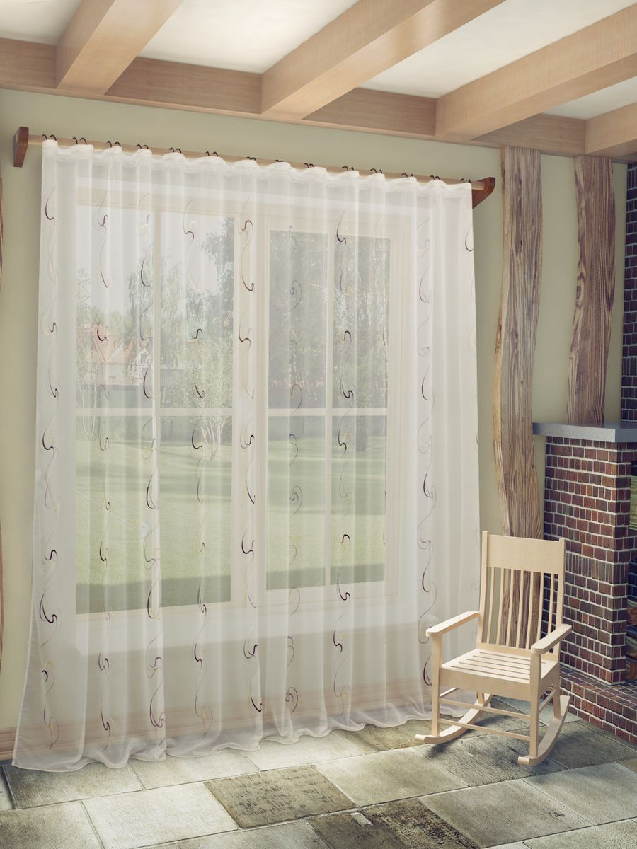 Тюль Sanpa Home Collection Джози, на ленте, цвет: белый, сиреневый, высота 260 смHP48612/4/1E Джози сиренев, , 300*260 смТюль Джози нежного цвета изготовлена из ткани вуаль. Воздушная ткань привлечет к себе внимание и идеально оформит интерьер любого помещения. Ткань вуаль - это гладкая, тонкая, полупрозрачная ткань, изготавливаемая из хлопка, шерсти, шёлка или полиэстера путём полотняного переплетения нитей.Крепление к карнизу осуществляется при помощи вшитой шторной ленты.