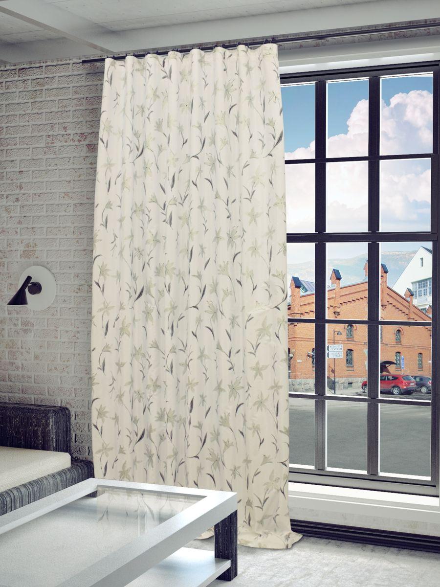 Штора Sanpa Home Collection Антия, на ленте, цвет: белый, серый, высота 280 смHP5170/7100/9/1E Антия белый, , 200*280 смШтора Антия с оригинальным узором изготовлена из тафты.Тафта - разновидность глянцевой плотной тонкой ткани полотняного переплетения из туго скрученных нитей шёлка, хлопка или синтетических органических полимеров (химические волокна).Крепление к карнизу осуществляется при помощи вшитой шторной ленты.