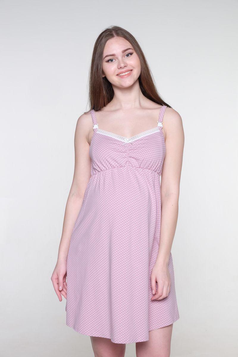 Ночная сорочка для беременных и кормящих Hunny Mammy, цвет: розовый, молочный. 1-НМП 20002. Размер 501-НМП 20002Нежная сорочка для беременных и кормящих мам Hunny Mammy изготовлена из эластичного хлопка. Модель с V-образным вырезом горловины оформлена принтом, декорирована кружевом. Для кормления предусмотрены удобные застежки-клипсы. Такая сорочка будет вас радовать не только в период беременности, но и после.