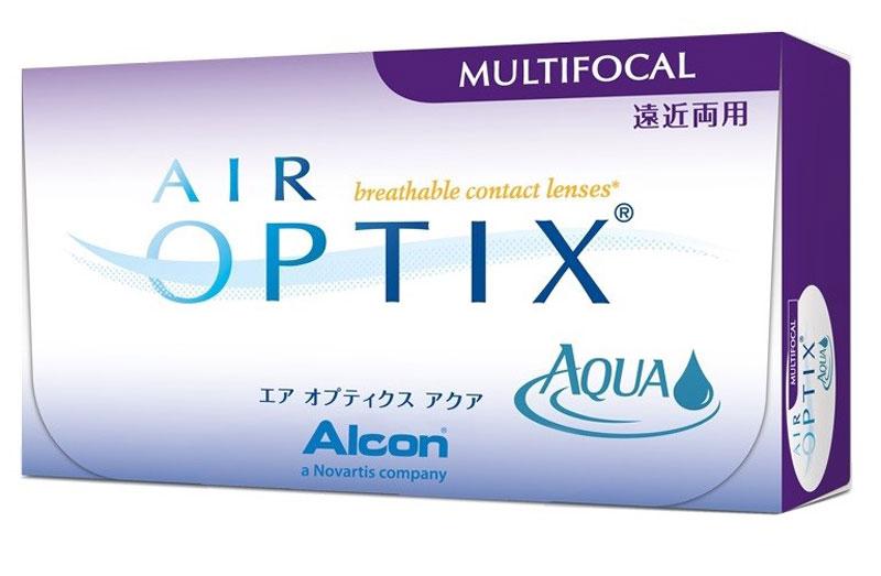 Alcon-CIBA Vision контактные линзы Air Optix Aqua Multifocal (3шт / 8.6 / 14.2 / -2.50 / High)31096Контактные линзы Air Optix Aqua Multifocal предназначены для коррекции возрастнойдальнозоркости. Если для работы вблизи или просто для чтения вам необходимоиспользовать очки, то эти линзы помогут вам избавиться от них. В линзах Air Optix AquaMultifocal вы будете одинаково четко видеть как предметы, расположенные вблизи, так иудаленные предметы. Линзы изготовлены из силикон-гидрогелевого материала лотрафилкон Б, который пропускаетв 5 раз больше кислорода по сравнению с обычными гидрогелевыми линзами. Они настолькокомфортны и безопасны в ношении, что вы можете не снимать их до 6 суток. Но даже если выне собираетесь окончательно сменить очки на линзы, мы рекомендуем вам иметь хотя бы однупару таких линз для экстремальных ситуаций, например для занятий спортом. Контактные линзы Air Optix Aqua Multifocal имеют три степени аддидации: Low (низкую) до +1.00;Medium (среднюю) от +1.25 до +2.00 и High (высокую) свыше +2.00. Характеристики:Материал: лотрафилкон Б. Кривизна: 8.6. Оптическая сила:- 2.50. Содержание воды: 33%. Диаметр: 14,2 мм. Cтепеньаддидации: High (высокая). Количество линз: 3 шт. Размер упаковки:9 см х 5 см х 1 см. Производитель: Малайзия. Товар сертифицирован. Уважаемые клиенты! Обращаем ваше внимание на то, что упаковка может иметь несколько видовдизайна.Поставка осуществляется в зависимости от наличия на складе. Контактные линзы или очки: советыофтальмологов. Статья OZON Гид