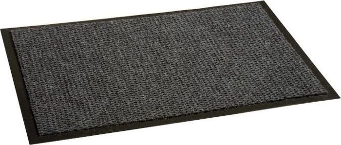 Коврик придверный InLoran Престиж, влаговпитывающий, цвет: серый, 40 х 60 см30-464Коврик придверный InLoran выполнен из винила и полиамида. Изделие имеет иглопробивной ворс, который эффективно удерживает грязь и влагу (на 1квадратный метр до 5 кг). Такой коврик надежно защитит помещение от уличной пыли и грязи. Легко чистится и моется.