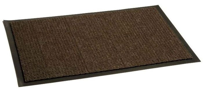 Коврик придверный In'Loran Престиж, влаговпитывающий, цвет: коричневый, 120 х 150 см швабра любаша ворс 35 см цвет коричневый 120 см